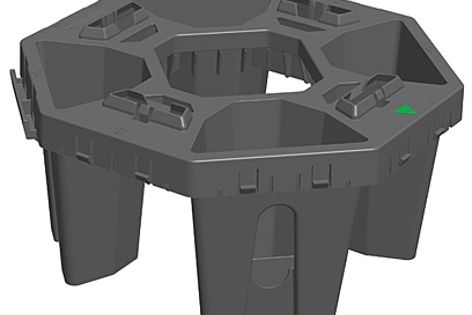 The StrataCell structural loadbearing module occupies only 5.5% space.