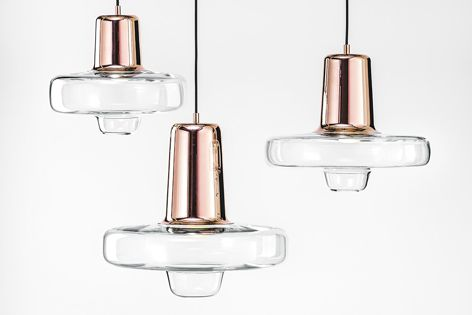 The Spin light, designed by Lucie Koldová, is part of Lasvit's Design Lighting collection.