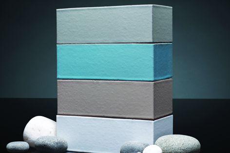 The Seascape collection colours: Pumice, Lagoon, Dusk and Sea Salt.