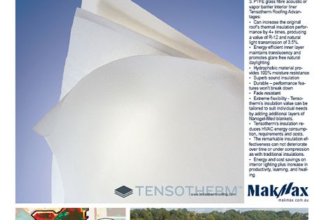 Tensotherm tensile fabric roofing