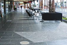Exposed aggregate pavers from UrbanStone