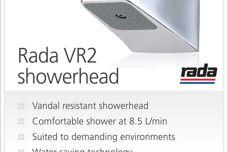 Rada VR2 showerhead