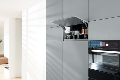 TIP-ON mechanical opening support is now available for Aventos HK-S.