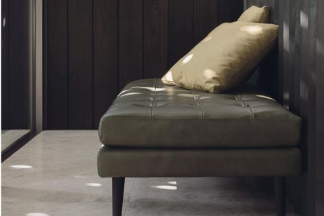 Uno's back panels and cushions can be removed to convert the sofa into an elegant ottoman.
