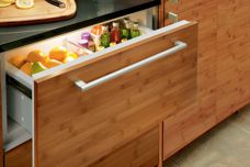 Integrated fridge/freezer drawers by Sub-Zero