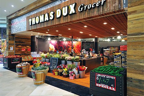 Screenwood systems were used on this Thomas Dux store (Specifier: Christianson O'Brien).