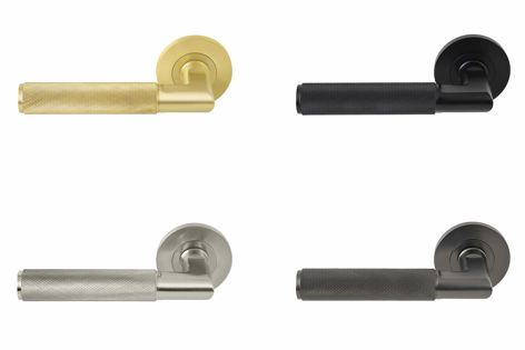 The new Lumina handle is available in four finishes: matt satin brass, matt black, brushed nickel and graphite nickel.