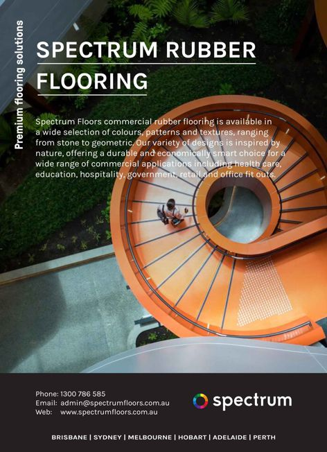 Rubber flooring by Spectrum