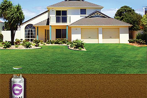 EasyGas DownUnder means a household's LPG supply is stored safely underground.