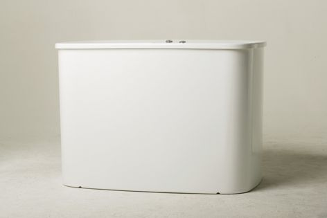 The Haiku Access freestanding bath from Aqva Design is designed for less-mobile bathers.