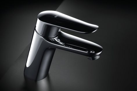 The Logica–N collection basin mixer offers precise control of water flow and temperature.