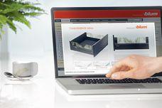 Tandembox Intivo design configurator by Blum