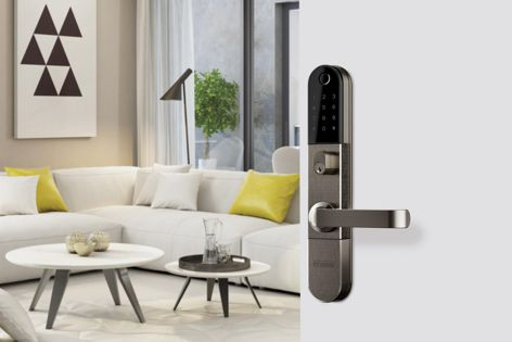 Suitable for both single- and multiple-occupant residences, the Schlage Omnia is a fire-rated and secure smart lock.