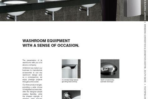 Washroom equipment by Bobrick