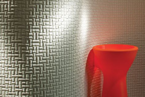 Made from recycled materials, Ecocarat tiles control humidity, absorb VOCs and reduce odours.