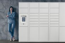 Groundfloor smart delivery parcel lockers