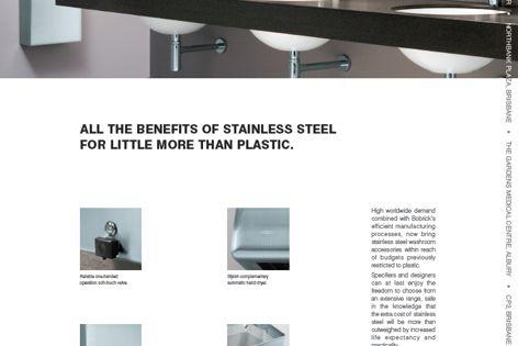 Stainless steel washroom accessories
