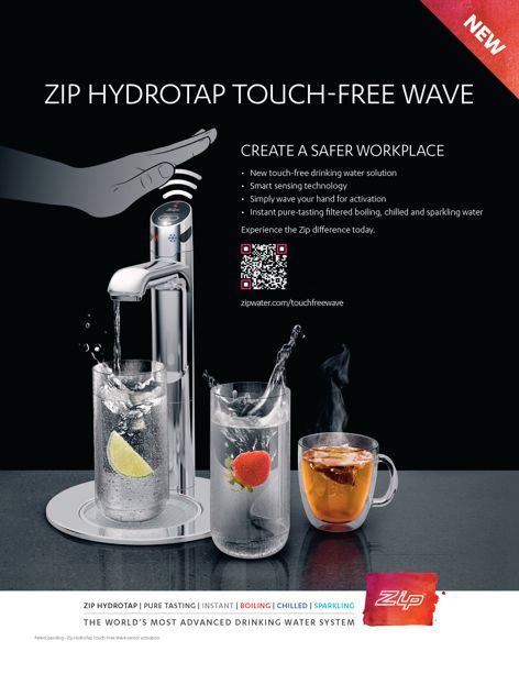 Touch-free Zip HydroTap Wave
