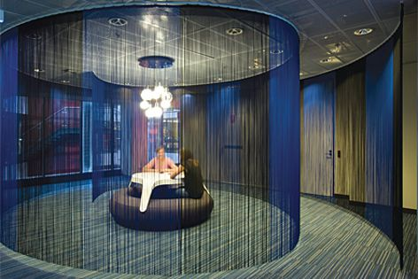 Sound-absorbing Comfi Bak carpet tiles were specified for Google's Sydney offices.