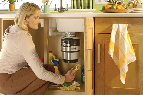 InSinkErator disposes of food waste in an environmentally friendly way.