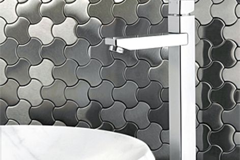 Suba tapware is available in chrome or brushed nickel finishes.