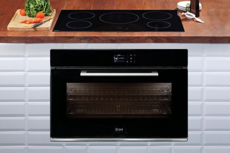 Black built-in ovens by Ilve