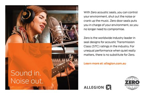 Zero acoustic seals from Allegion