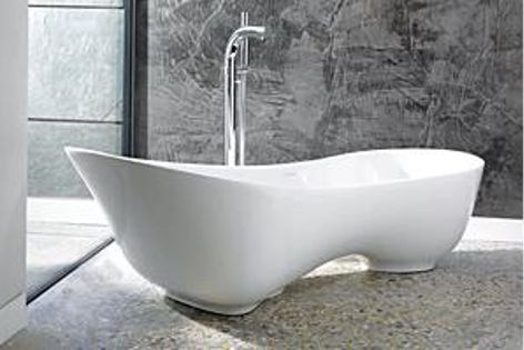 A revolution in bathing comfort is offered by the Cabrits bath from Victoria and Albert.