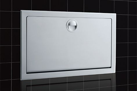KB110-SSWM surface-mounted stainless steel baby changing stations.