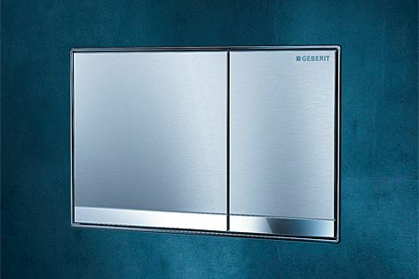 The Sigma60 flush plate from Geberit is made from high-quality die-cast zinc.