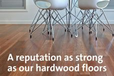 Hardwood flooring by Big River Group