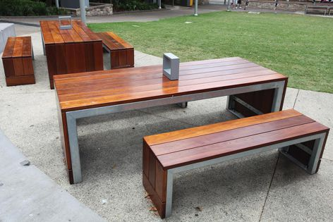 Effective and attractive street furniture solutions are available from Town & Park.