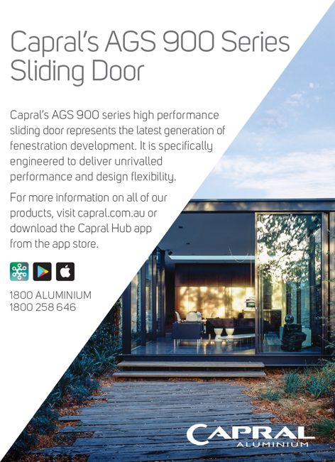 AGS 900 sliding doors by Capral