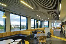 Supatile Slat ceiling system by Supawood