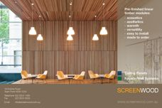 Screenwood timber ceiling modules