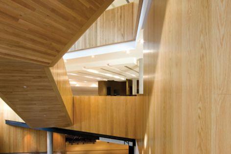 Melbourne Grammar School, Nigel Peck Centre (John Wardle Architects). Photography Dianna Snape.