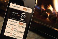Fireplace controller app from Escea