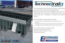 Technodrain linear drainage systems