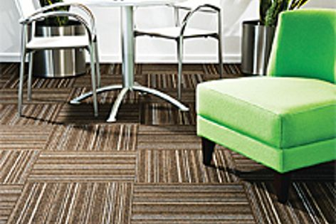 The EC Modular carpet tile range has expanded with two new designs, including Skyline.