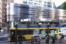 Stoddart perforated metal used at Wynyard Station