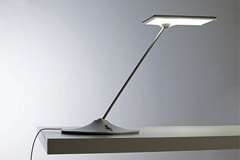 The Horizon LED task light features a built-in dimmer control to help with energy savings.
