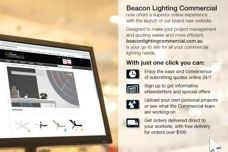New website by Beacon Lighting Commercial