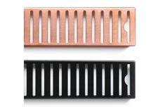 Stainless steel shower grates by Veitch