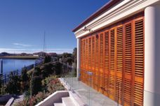 Sustainable western red cedar shutters