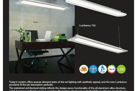 Lumbency lights from Beacon Lighting Commercial