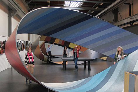 Fly Forbo Award 2011 winners with the Marmoleum mobius in Holland.