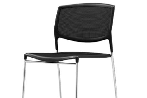 Lightweight and strong, the Daylight mesh chair is stackable to 45 units high.