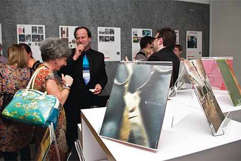 Guests enjoy the exhibition.