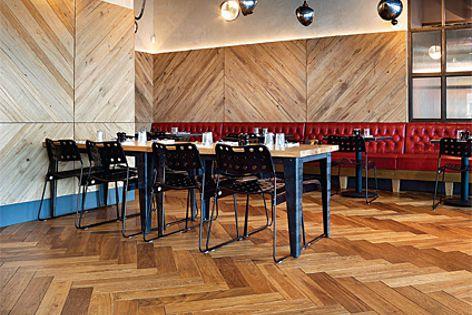 Havwoods Oak Nature Herringbone flooring.