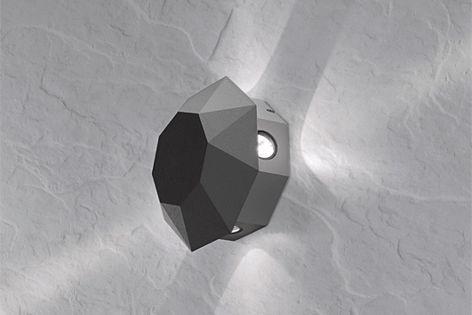 AXO light Adamas LED wall light from Studio Italia.